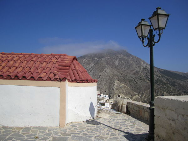 Olympos village Architecture Blue Clear Sky Dodecanese Mountain Olympos Outdoors Roof Sky Street Light Sunlight Tranquility Όλυμπος