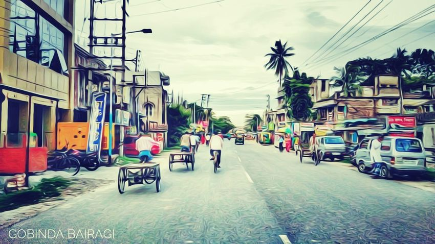 Bongaon, Developing City City Street City Street Transportation Bicycle Cycling City Life Outdoors Day Travel Destinations Motorcycle People Sky Architecture Gobinda The Freelancer Gobinda Bairagi Bongaon Gobinda Lifestyles North 24 Parganas west Bengal