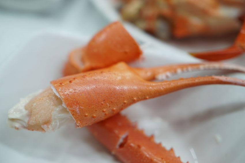 Ready-to-eat Seafood Freshness Healthy Eating Red Crab Food Close-up