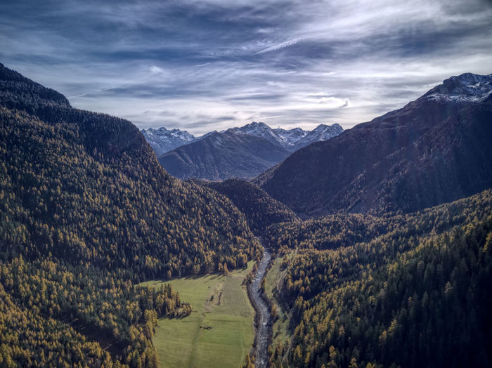 Drone  Aerial Photography Beauty In Nature Cloud - Sky Day Dronephotography Landscape Mountain Mountain Range Nature No People Outdoors Scenics Sky Tranquil Scene Tranquility Tree