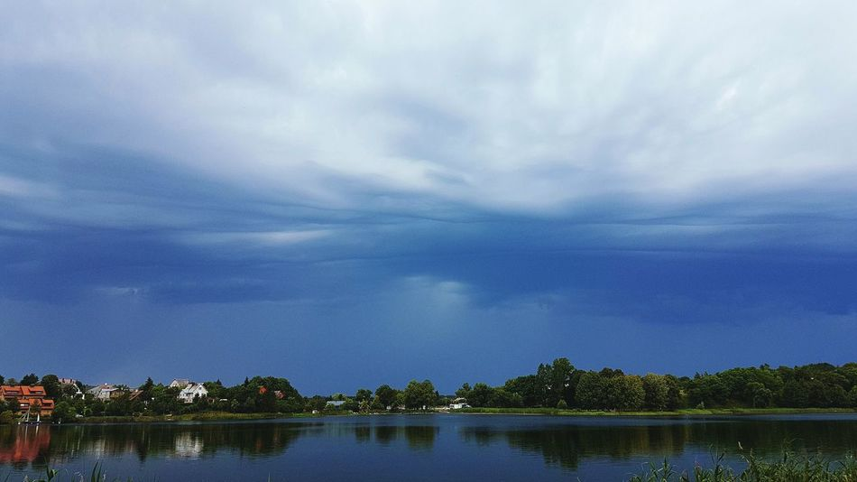 Water Lake Reflection Cloud - Sky Outdoors No People Day Sky Storm Cloud Stormy Weather Storm Clouds Storm Trakai Blue Sky Clouds Rain Coming Epic Clouds Armageddon Nature Summer Views EyeEm Selects Lake View