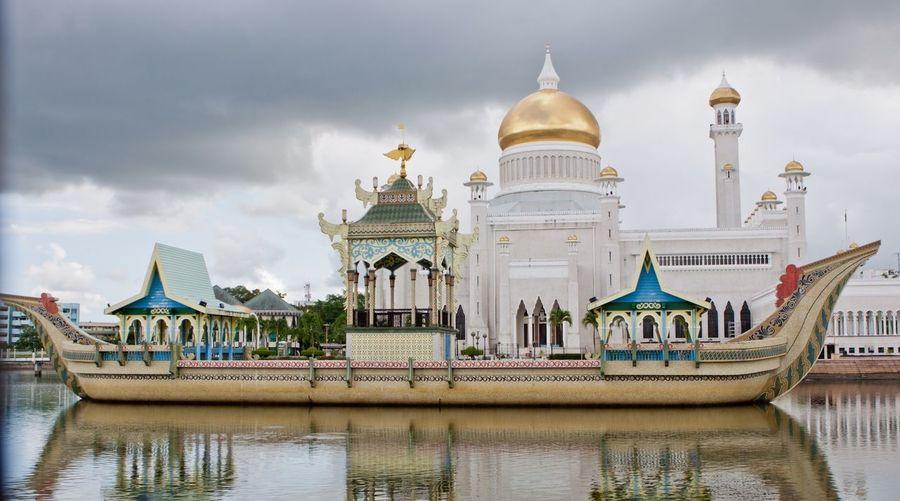 Built structure against cloudy sky