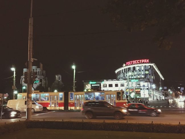 Night Kaliningrad Walking Around Illuminated Baltics2k16
