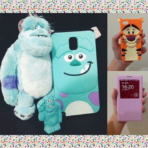Got this super cutey sulley 3D case from @paroparoshop w/ the S View leather case too! Thankyou Parotesti really love it! ??