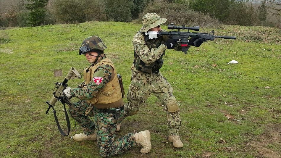 People Military Rifles Drill Airsoft Is Kinda Drill