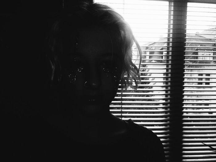 crying glitter tears Glitter The New Self-Portrait Monochrome Selfportrait Blackandwhite