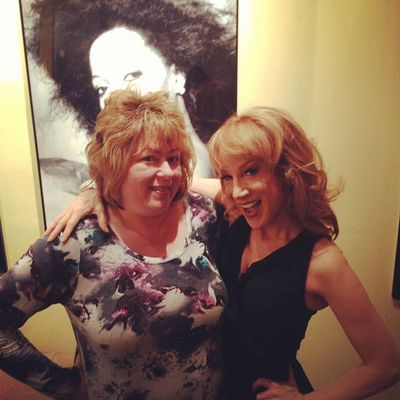 Kathy Griffin looks much happier in this picture with my sister than one with Barbara Walters. KathyGriffin MeetAndGreet