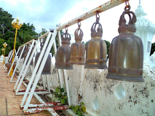 Bells in the garden of Wat Suan Dok #architecture #Bells #buddhist #busshism #chiangmai #Thailand #watsuandok #whitetemple Art And Craft Cultures Religion Spirituality