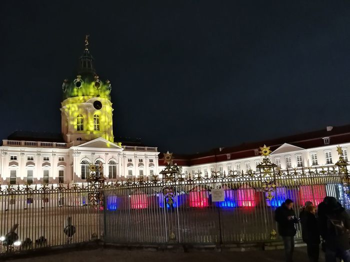 Night Architecture Illuminated Building Exterior Built Structure Travel Destinations City Outdoors No People Sky Cityscape Tree Politics And Government Charlottenburg  Weihnachtsmarkt Christmastime