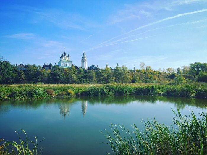Суздаль, Russia. EyeAmNewHere Old Russia Russian Landscape River Church Russia Summer Water Sky Plant Lake Tree Reflection Nature Tranquility Beauty In Nature Architecture Green Color EyeEmNewHere