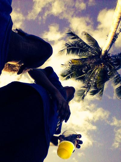 Weekendchill First Eyeem Photo Swim Sky Clouds Coconut Tree Life Fresh Android Samsungtab4