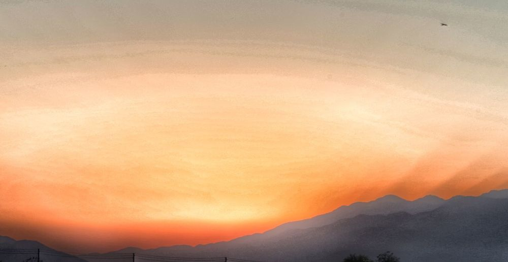 Palm Springs JGLowe Sunset Mountain Sky Orange Color Beauty In Nature Scenics - Nature Nature Mountain Range No People Tranquility Environment Idyllic Tranquil Scene Landscape Cloud - Sky Non-urban Scene Silhouette Outdoors Dramatic Sky