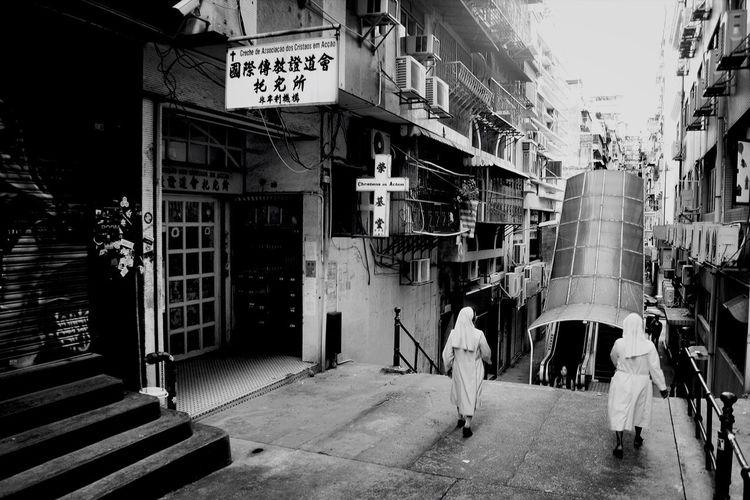 St. Michael Cemetary Macau Black And White