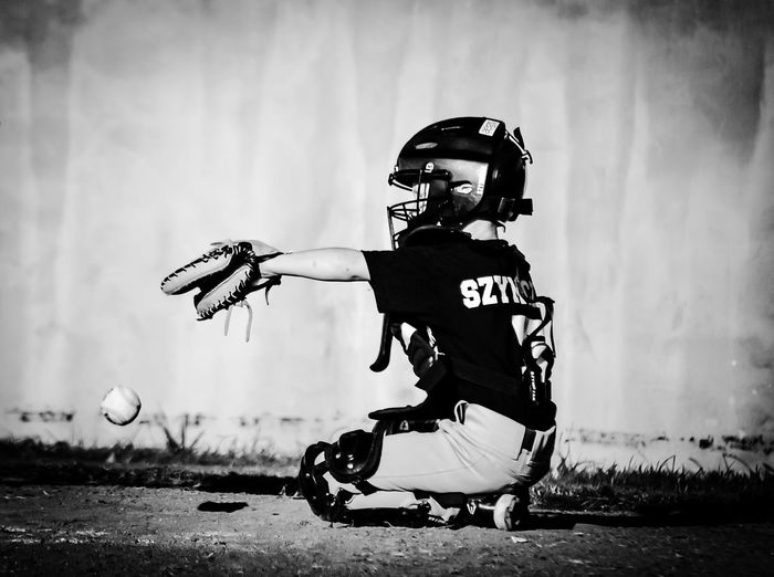 Untold Stories It's tough playing catcher in Texas... And especially when you're only 6 years old. EyeEm Best Shots - Black + White Monochrome Eye4black&white  Baseballnights Baseball OpenEdit Eye4photography  EyeEmBestPics Snapshots Of Life