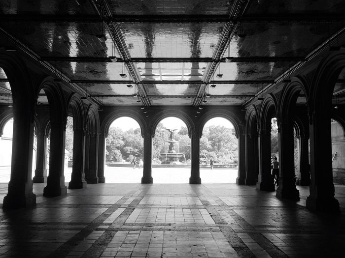 Central Park... Architectural Column Architecture Built Structure Arch In A Row Tiled Floor No People Day Adapted To The City Love Nature Beautiful Day