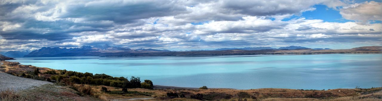 Beauty In Nature Blue Calm Cloud - Sky Cloudscape Cloudy Cumulus Cloud Day Idyllic Lake Majestic Mountain Mountain Range Nature No People Non-urban Scene Outdoors Panoramic Scenics Sea Sky Tourism Tranquil Scene Tranquility Water