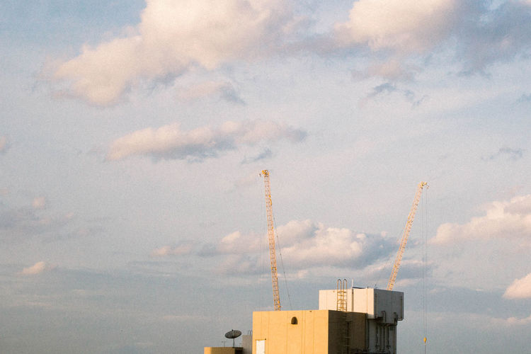 Sky Architecture Building Building Exterior Built Structure City Cloud - Sky Crane - Construction Machinery Day Industry Low Angle View Nature No People Outdoors Sky