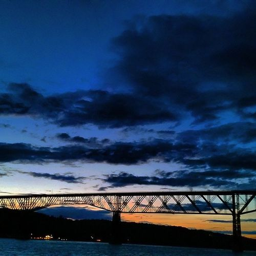 Last of the Sunset behind the Walkway Over The Hudson in Poughkeepsie Newyork