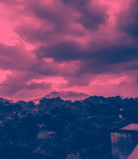 High up in Mountains.⚫Edited My Way Sunset Beauty In Nature PhonePhotography Hills And Trees ⚫