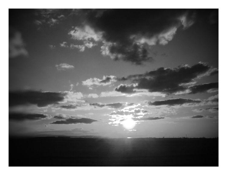 Sunset Skyfire B&w Photography