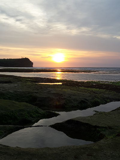 Balangan Beach Bali, Indonesia Sunset Water Traveling Enjoying The Sun Vacations Famous Places Tourism