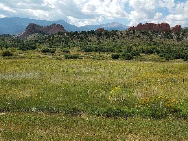 Garden Of The Gods And Field Outdoors Landscape