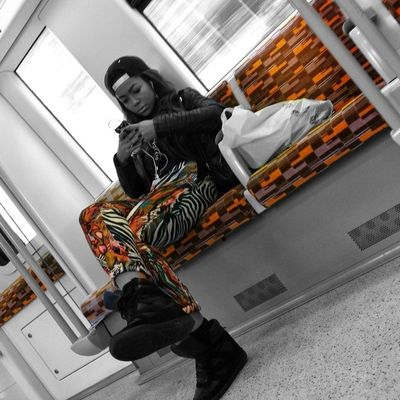 Urban camouflage Girl Coloursplash EyeEm Best Shots Notes From The Underground