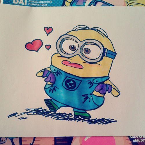 Pimpackelis :3 Kainerakaveikti Minion  Loveminion Love Lovely Cute Draw Atr Colourful MOVIE Character Film yellowguy Pakalikas Lietuva Follow Lfl Fff Tfl Tflers Tagsforlikes