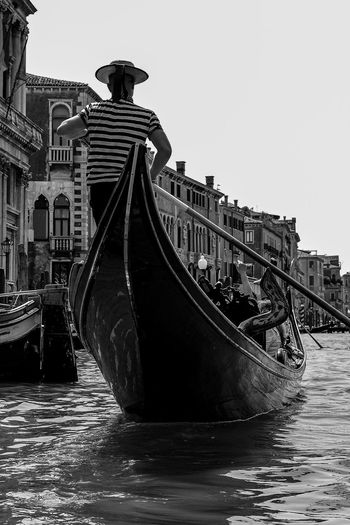 Gondola Venice Venice, Italy Water Architecture Built Structure Clear Sky Nautical Vessel Nature Sky Building Exterior Transportation Day Travel Destinations Tourism Travel No People Mode Of Transportation Outdoors Waterfront Copy Space Representation