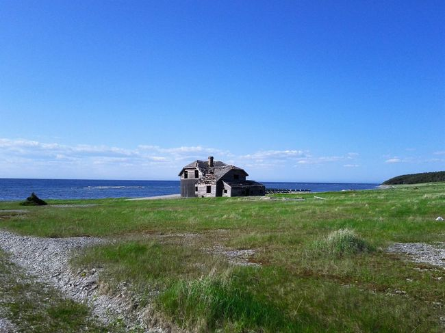 Sea Horizon Over Water Old Ruin Scenics Blue Beach Clear Sky Sky Grass Nature Outdoors Water No People History Beauty In Nature Day Landscape Nature Anticosti Islands