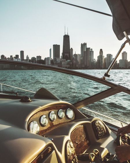 Chicago vibe Photography Skyscraper City Architecture Built Structure Tall - High Building Exterior Transportation Cityscape Mode Of Transport Tower Urban Skyline Water Car Travel Destinations Sky Nautical Vessel Travel River Tall Day Chicago Boat Sunset