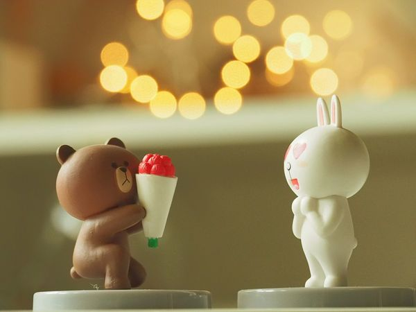 you are in the mood of love Love Marriage  LINE c Cony Sweet Celebration Couple Snap