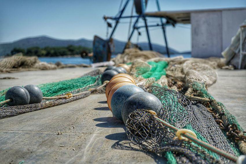 Kroatien Croacia Wasser Meer Sonya7rii Sony Alpha A7RII HDR Fischerboot EyeEm Selects Nautical Vessel Water Fishing Tackle Beach Fishing Net Sea Harbor Moored Buoy Sand Fishing Equipment Fishing Boat Fishing