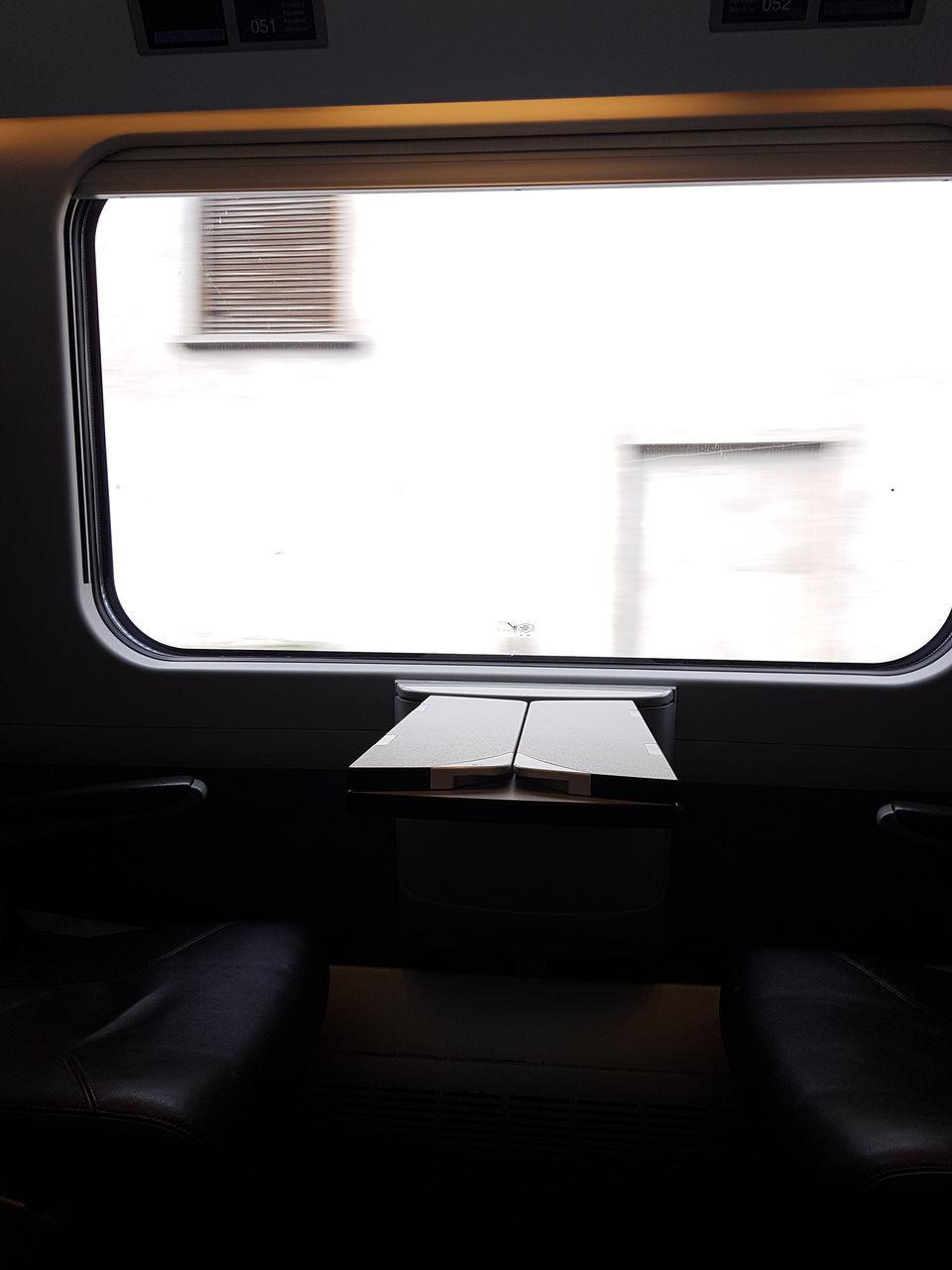 vehicle interior, transportation, window, mode of transport, public transportation, vehicle seat, no people, train - vehicle, indoors, journey, day, close-up