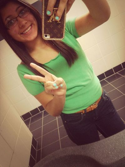 In The Restroom Bored It Was Just To Get Out Of Class