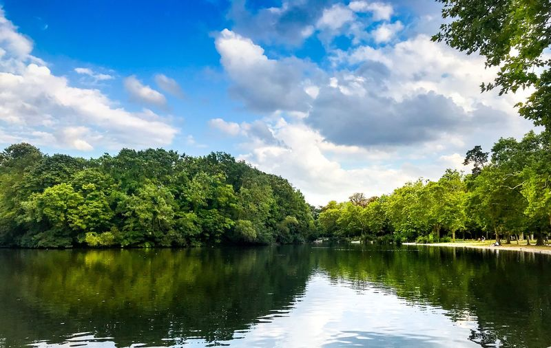 Tree Nature Reflection Sky Beauty In Nature Lake Water Scenics Outdoors Cloud - Sky Tranquility No People Day Tranquil Scene Growth Green Color Forest