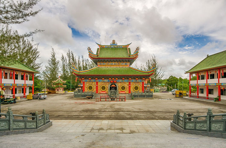 Architecture Building Exterior Built Structure Clouds And Sky Malaysia Place Of Worship Religion Sarawak Sibu Sky Temple - Building Tourism Traveling