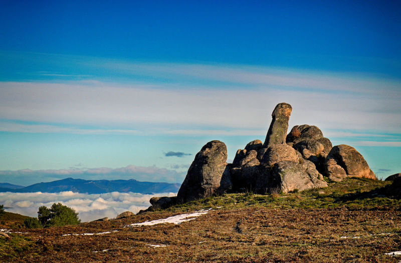 Rock Sky Solid Tranquil Scene Rock - Object Beauty In Nature Tranquility Scenics - Nature Cloud - Sky Nature No People Mountain Environment Rock Formation Day Non-urban Scene Land Landscape Remote Blue Outdoors Eroded Formation Mountain Peak Arid Climate