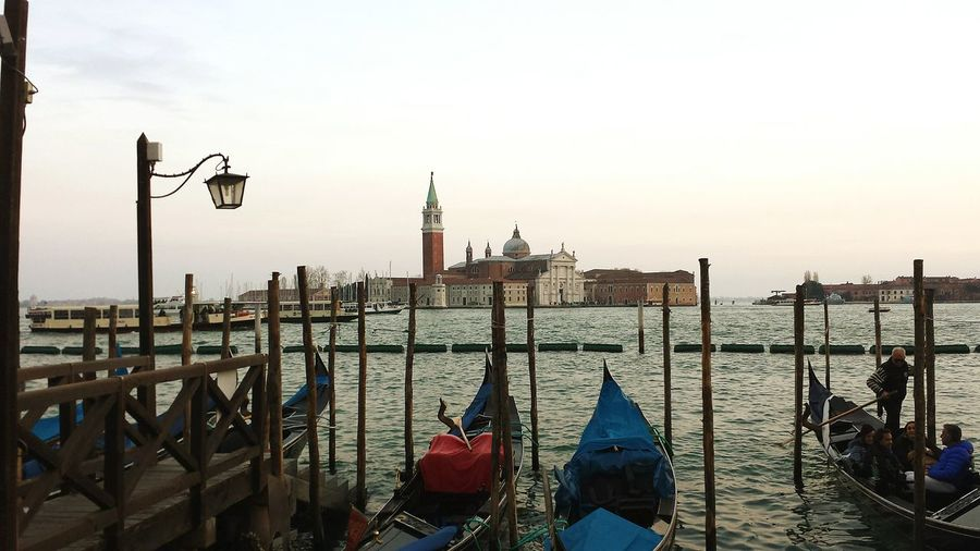 Mare Laguna Venezia Venice Barche Gondole Campanile Gondola - Traditional Boat Water Panoramic Photography Water_collection Mare E Sole
