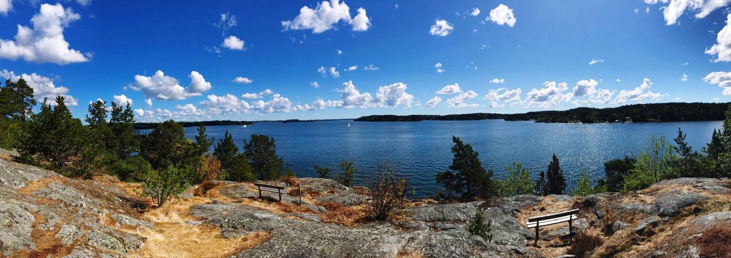 Beautiful view from Lidingö Stockholm Water Sky Tranquility Cloud - Sky Scenics - Nature Tranquil Scene Beauty In Nature Nature Panoramic Blue Outdoors Sea