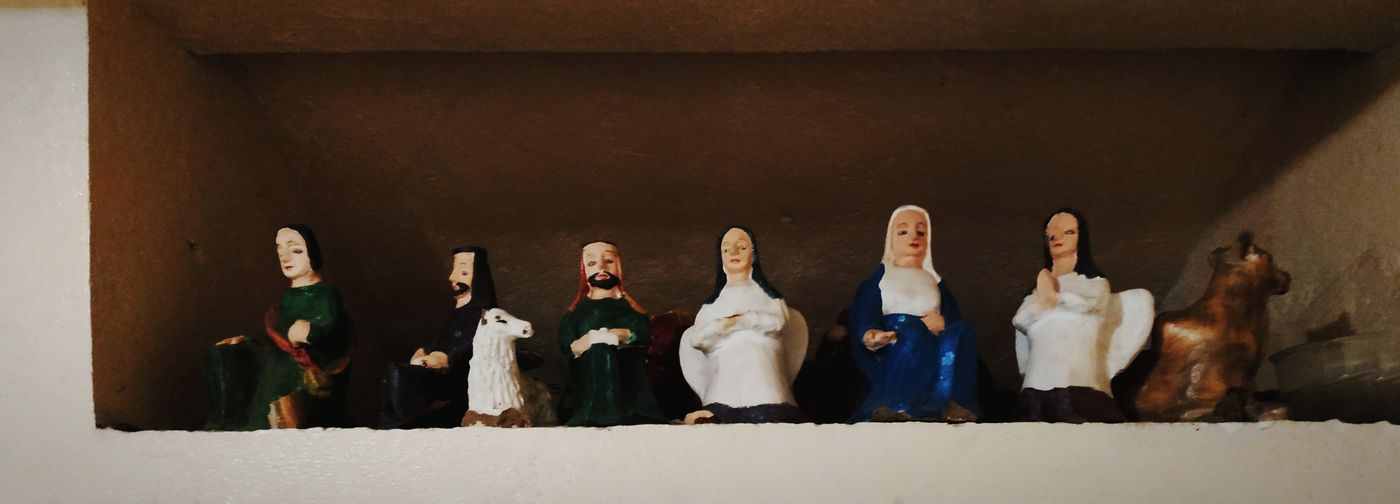 Holy figurines.