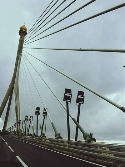 RIPAS Bridge Photograph Built Structure Architecture Bridge - Man Made Structure Low Angle View Cloud - Sky Cloudy Day No People Outdoors Cable Brunei Darussalam Mycountrybrunei