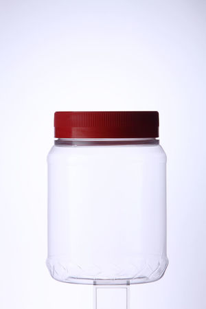 plastic container on the white background Isolated PLASTIC CONTAINER Biscuit Clean Clear Closed Cookie Cut Out Cut Out On White Galss Jar No People Object Packaging Product Single Object Studio Shot Translucent Transparent Utensil White Background