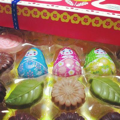中にもマトリョーシカ〜(・∀・) 食べるのもったない💦💦 Chocolate Marys マトリョーシカ