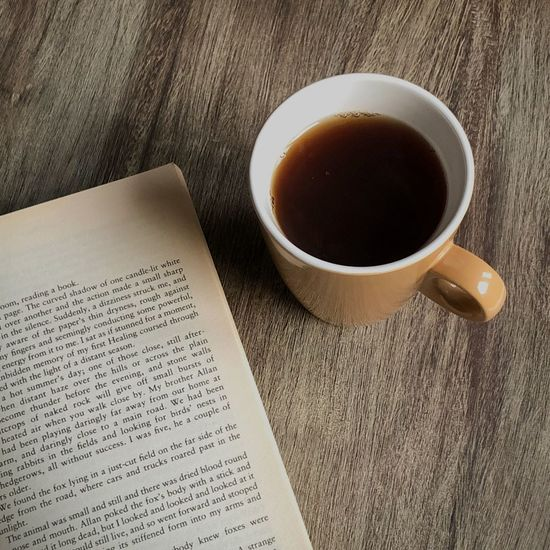 Coffee Old-fashioned Reading Tea Book Close-up Coffee Cup Cup Cuppa Day Drink English High Angle View Indoors  Mug No People Novel Page Paperback Table