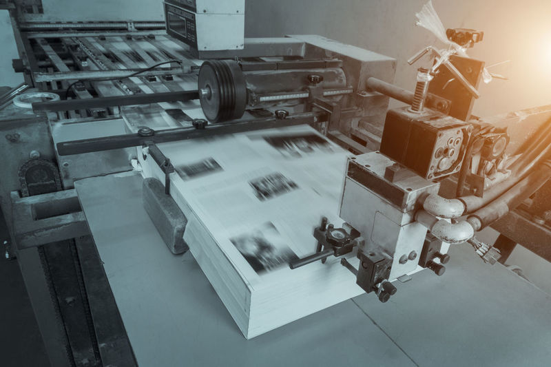 process in a modern printing house, offset printing. CMYK Press Print Printing Book Equipment Factory Indoors  Industrial Equipment Industry Machinery Manufacturing Manufacturing Equipment Manufacturing, Production; Construction Offset Offset Press Offset Printing Printing House Printing Machine Printing Press Process Production Line Publish Publishing Technology