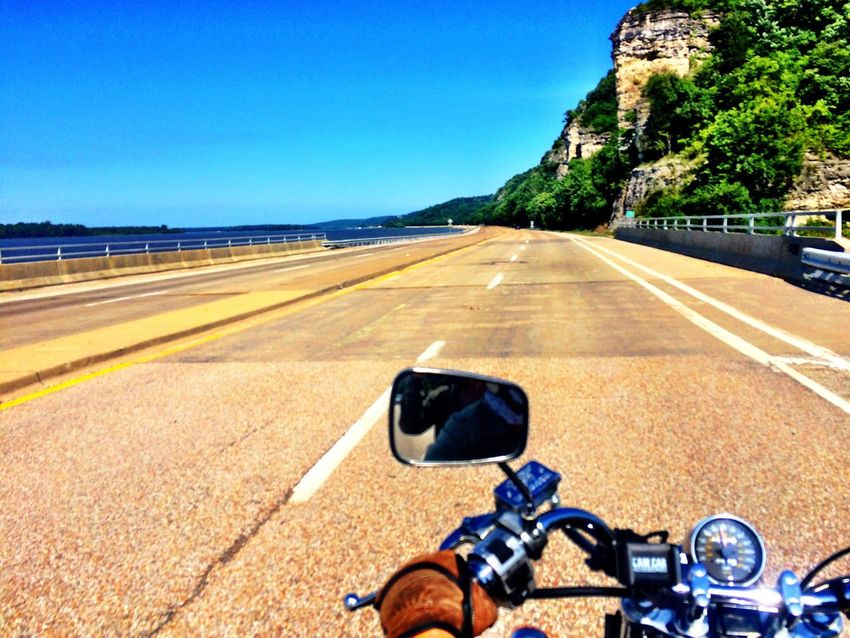 Motorcycle Motorcycle Trip Mississippi River My Year My View Adventure Club River Collection The Essence Of Summer From My Point Of View From The Road River EyeEm Traveling Transportation Sky Clear Sky Diminishing Perspective Travel Photography The Journey Is The Destination Travel Adventure Motorcycle Photography Great River Road On The Way EyeEm Best Shots Summer Colour Of Life Live For The Story Let's Go. Together. Sommergefühle Breathing Space Mix Yourself A Good Time Second Acts