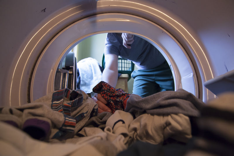 Day 70 of 366. Circle Clean Depth Of Field Home Human Body Part Indoors  Inside Laundry Lifestyles Pattern Selective Focus Soft