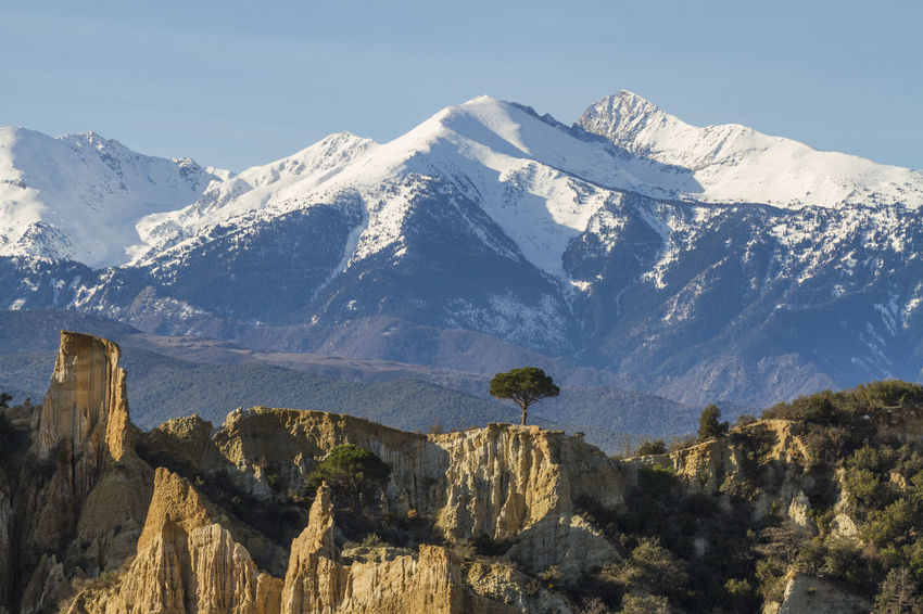 Beauty In Nature Canigou Day France Hiking Ille-sur-Têt Landscape Mountain Mountain Peak Mountain Range Nature No People Orgues Outdoors Scenics Sky Snow Snowcapped Mountain Travel