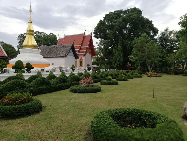Phrathat Kham Kaen BUDDHISM IS LOVE Statue Pagoda Buddha Temple Ancient Tree Sky Architecture Grass Garden Path Place Of Worship Religion Ancient Civilization Temple - Building